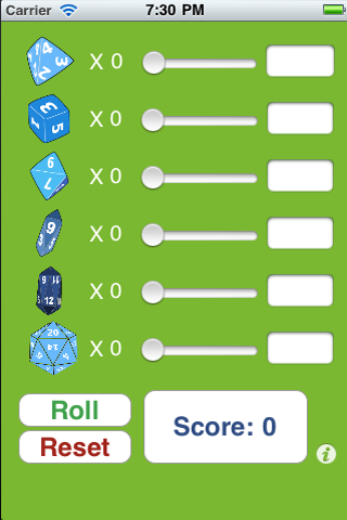 Screenshot True Random Dice for Rpg like D&D