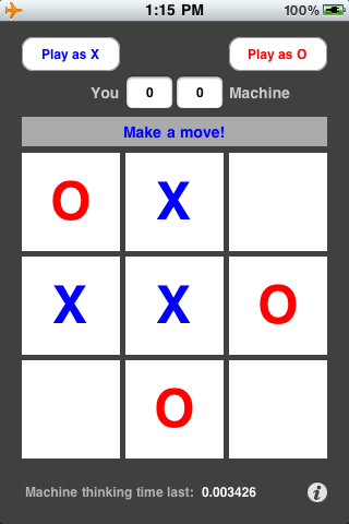 Screenshot AI x0 (Tic-tac-toe) – UNBEATABLE!!